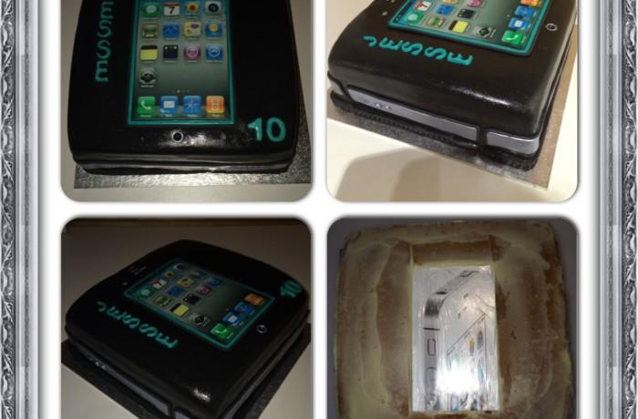 iphone 4 taart